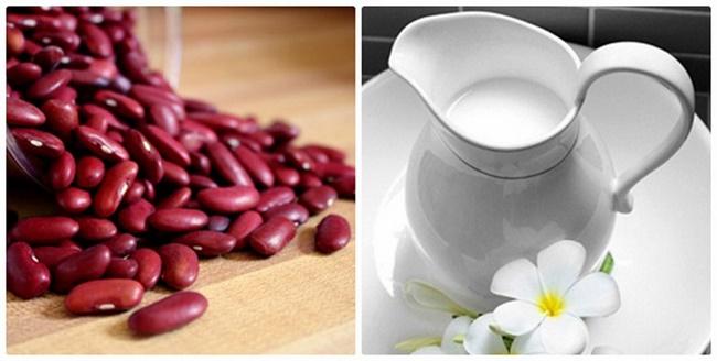Làm sạch da toàn thân bằng bột đậu đỏ và sữa tươi không đường