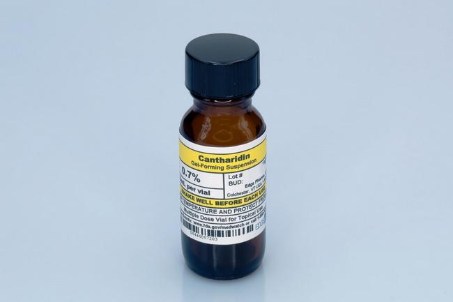 Thuốc trị mụn cóc bàn chân bằng thuốc bôi ngoài Cantharidin