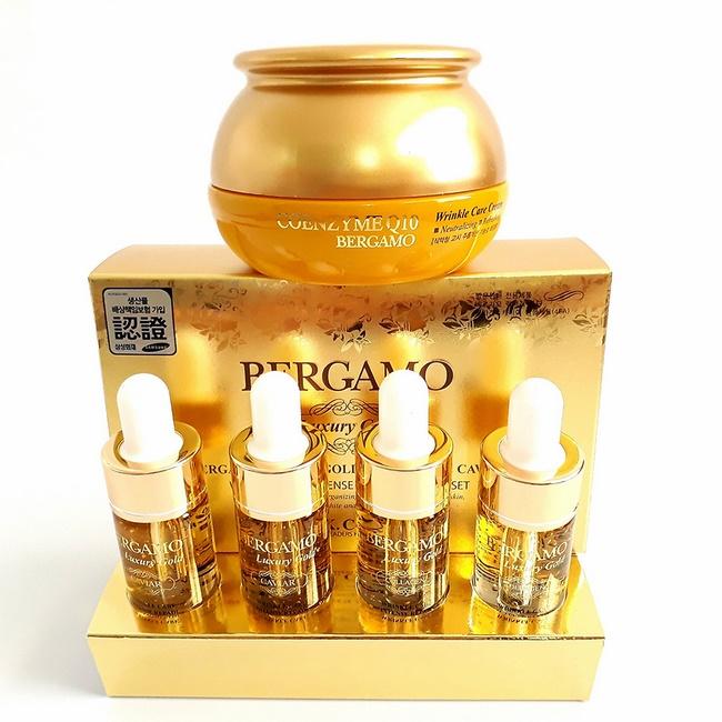 Tinh chất chống lão hóa Hàn Quốc Bergamo Luxyry Gold Caviar Vitamin