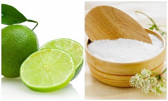 Trị mụn hiệu quả bằng nước chanh và muối