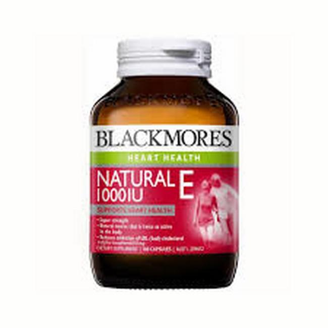 Viên uống Blackmores Natural Vitamin E 1000 IU