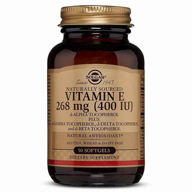Viên uống Solgar Vitamin E 400 IU làm đẹp da chống lão hóa