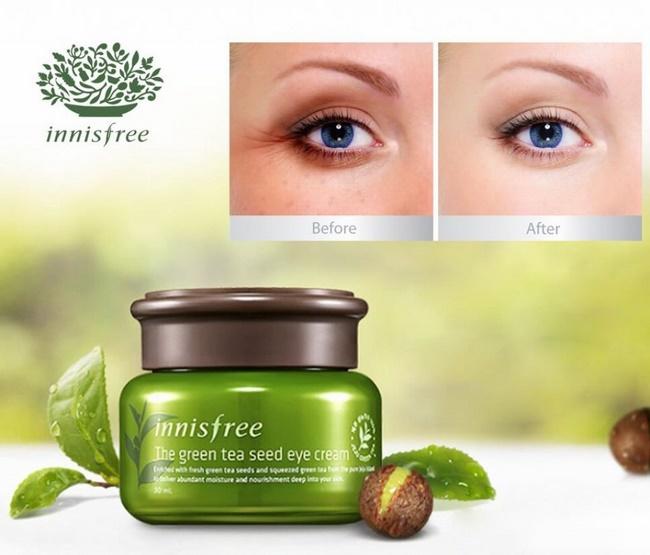 Kem chống lão hóa mắt Innisfree Green tea seed eye cream 30ml