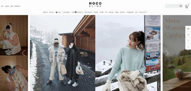 Web thời trang Moco Bling rất nổi tiếng trên toàn thế giới chuyên cung cấp sản phẩm nữ