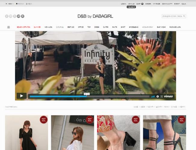 Web thời trang Dabagirl
