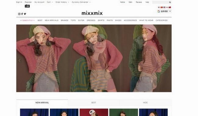 Các trang web thời trang nổi tiếng thế giới không thể thiếu cái tên MixxMix Hàn Quốc