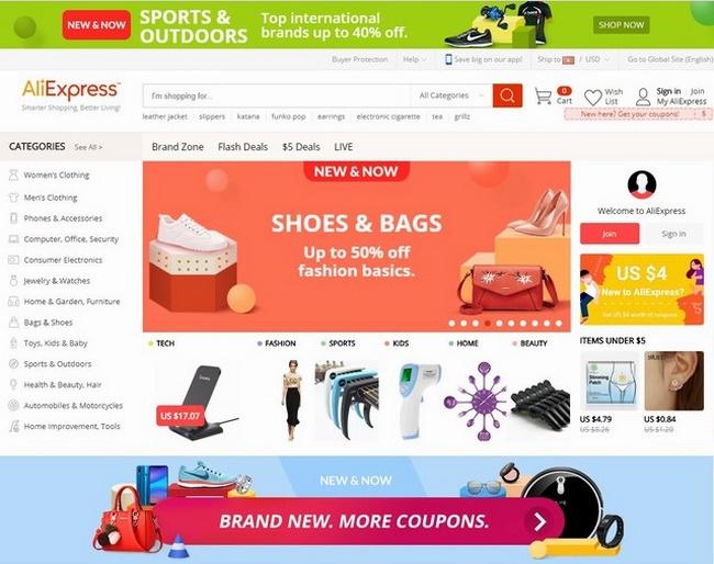 Aliexpress.com là một trong các địa chỉ thời trang nổi tiếng toàn thế giới hiện nay