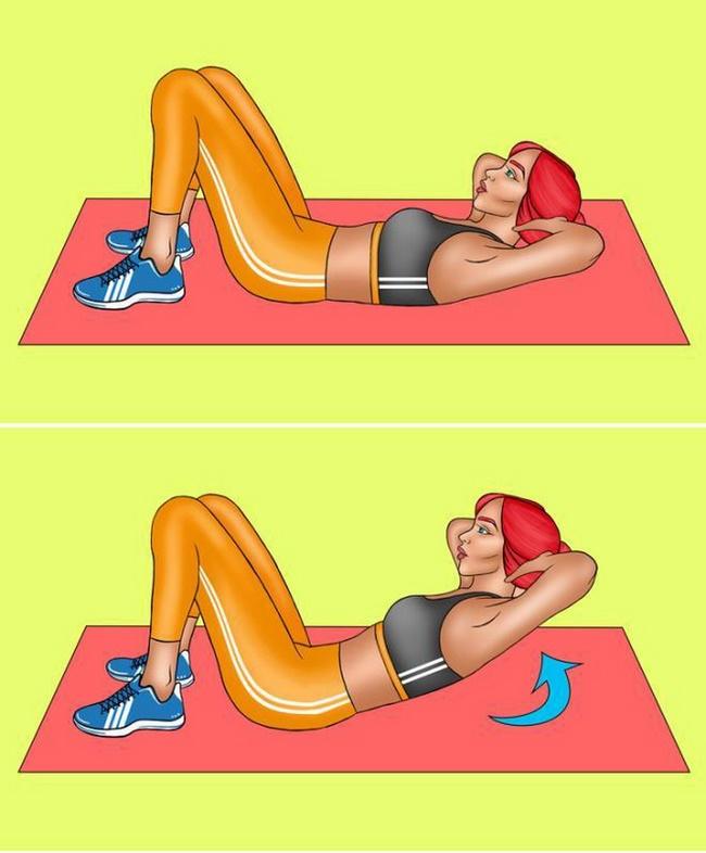 Bài tập Cardio giảm cân gập bụng co gối