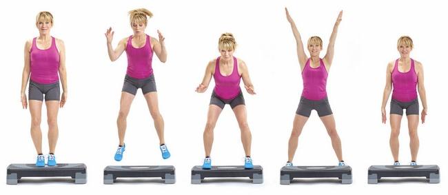 Bài tập Jumping Jack to the Step giảm mỡ toàn thân cho nữ