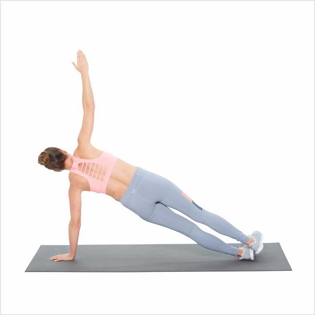 Bài tập Plank nghiêng giảm mỡ bụng