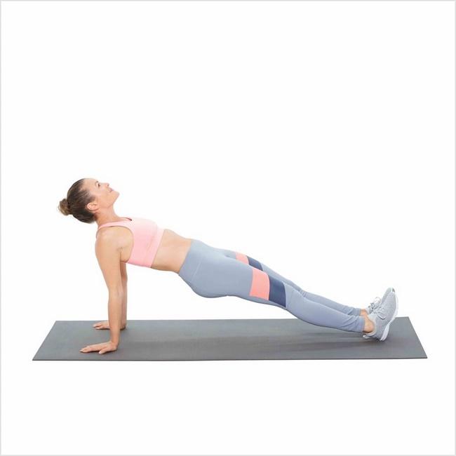 Bài tập Plank ngược giảm mỡ bụng