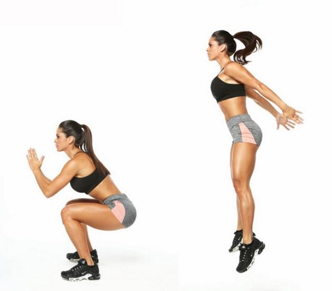 Bài tập Squat Jump làm săn chắc vùng đùi, mông hiệu quả
