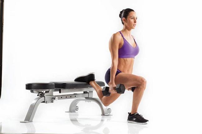 Bài tập Squat giảm mỡ bụng Dumbbell Split giảm mỡ bụng hiệu quả