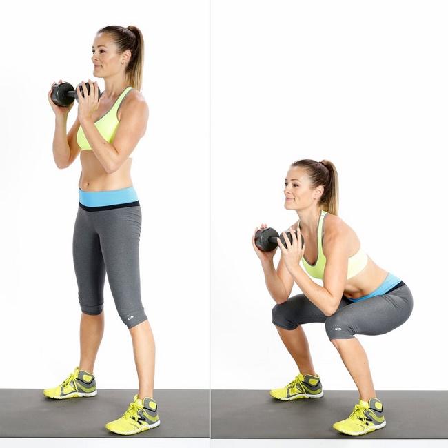 Bài tập Squat giảm mỡ bụng Sumo có tác dụng tăng kích thước vòng 3 và giảm mỡ đùi