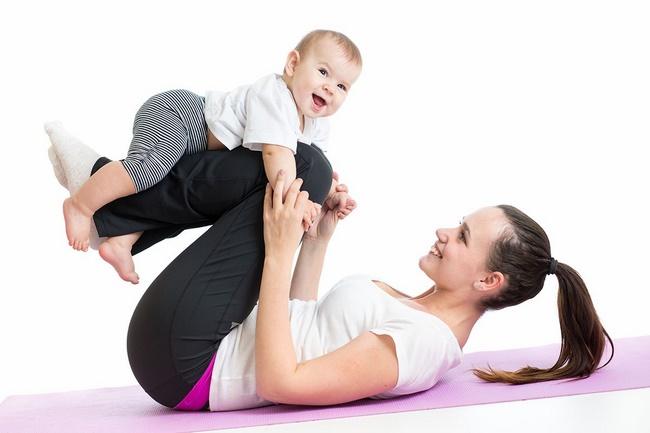 Bài tập bập bênh cùng bé giảm cân mỗi ngày