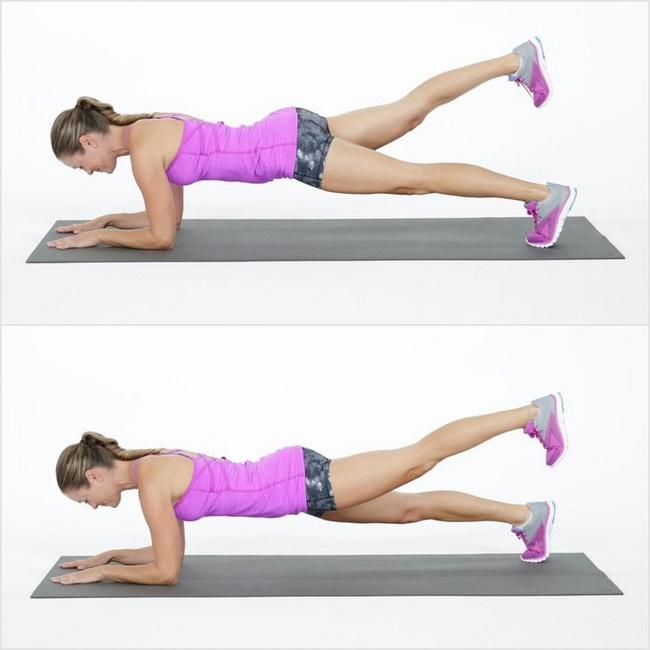Bài tập giảm mỡ bụng Plank 1 chân không tựa
