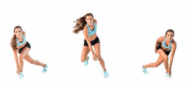 Bài tập thể dục giảm cân toàn thân Speed Skaters
