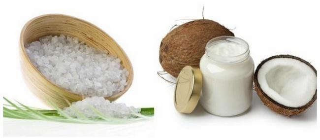 Cách tẩy tế bào chết bằng muối và dầu dừa hiệu quả