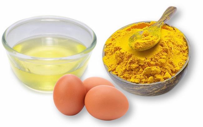 Cải thiện làn da với lòng trắng trứng gà và bột nghệ