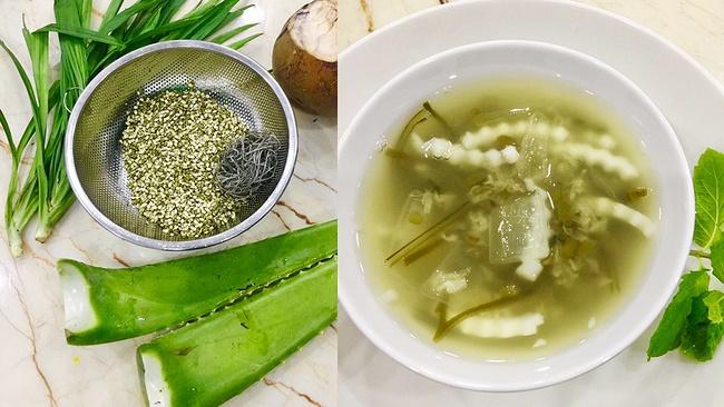 Chè đậu xanh nha đam vô cùng tốt cho sức khỏe và dễ ăn