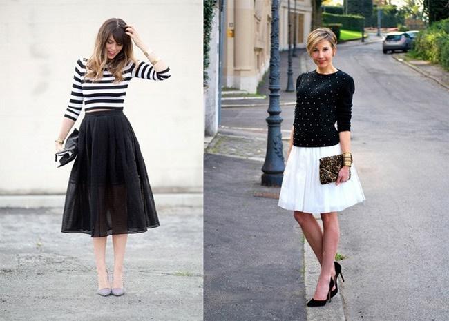 Chiếc áo thun đơn giản khi phối với chân váy tulle sẽ cho bạn set đồ sành điệu hơn