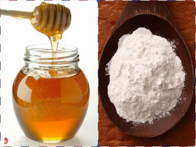 Mặt nạ baking soda và mật ong