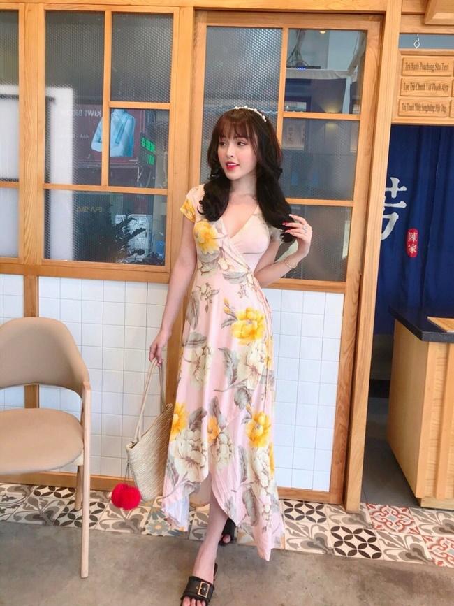 Đầm maxi thân trên đan chéo