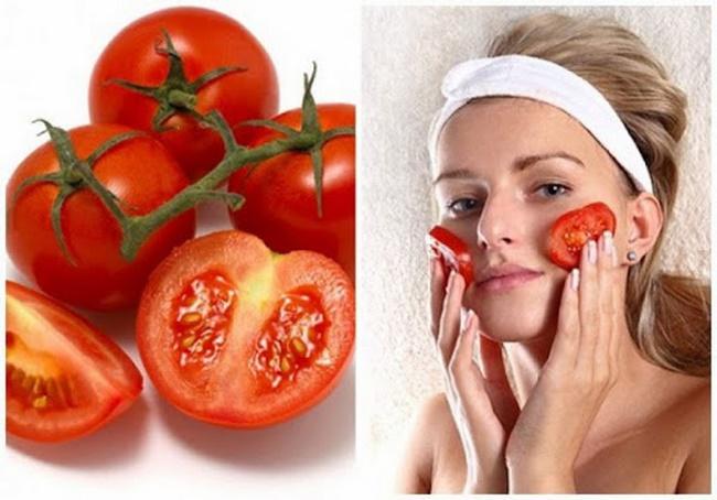 Điều trị thâm mụn bằng cà chua