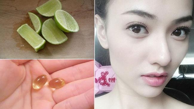 Dưỡng trắng da bằng mặt nạ vitamin E và chanh tươi