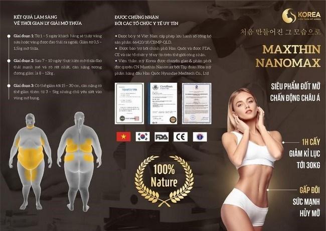 Giảm béo Max Thin Nanomax được ký kết chuyển giao độc quyền tại VTM Korea