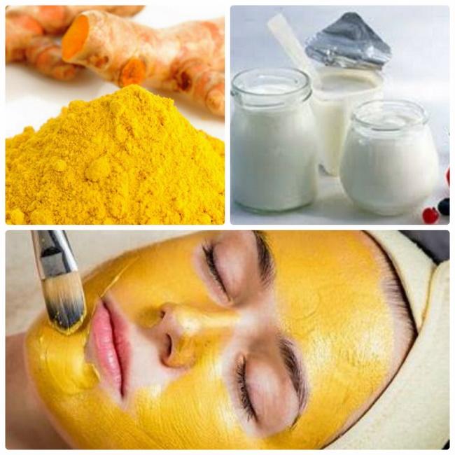 Làm mặt nạ sữa chua với nghệ bổ sung dưỡng ẩm cho làn da
