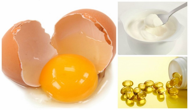 Mặt nạ vitamin E với lòng đỏ trứng gà