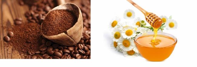 Mặt nạ tẩy tế bào chết bằng mật ong và cà phê