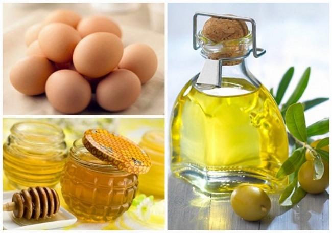 Mặt nạ trứng gà mật ong và dầu oliu cung cấp đổ ẩm cho làn da khô