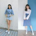 Nắm bắt xu hướng phối áo với chân váy Jean năm 2020