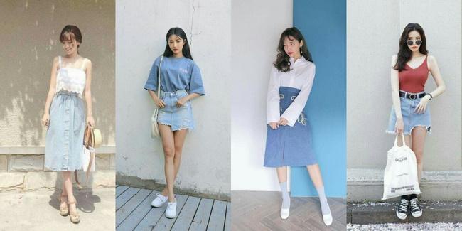 Một số kiểu chân váy Jean hot nhất hiện nay