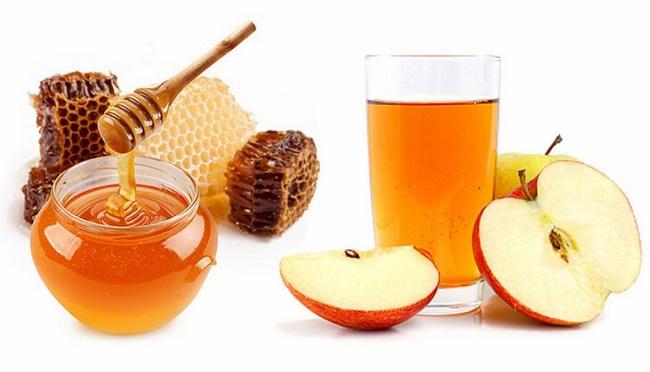 Pha giấm táo với mật ong giảm cân