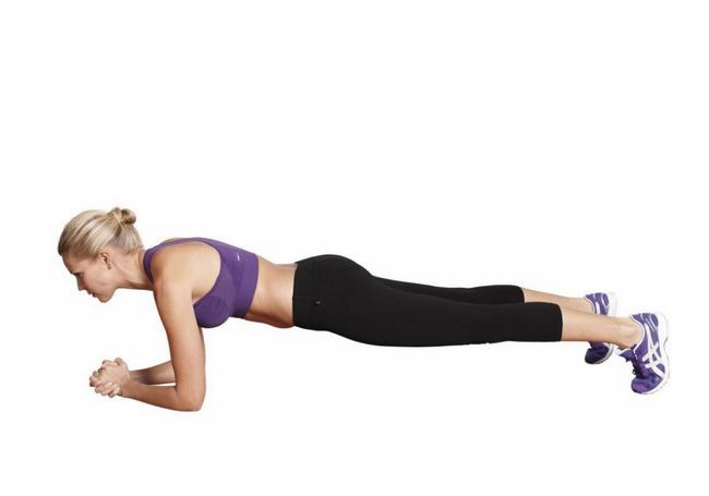 Plank cơ bản giảm cân hiệu quả