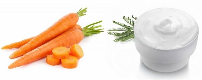 Tắm trắng toàn thân với sữa chua và cà rốt
