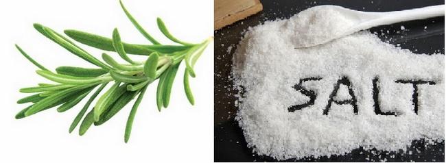 Tẩy tế bào chết toàn thân bằng muối, hương thảo và bạc hà