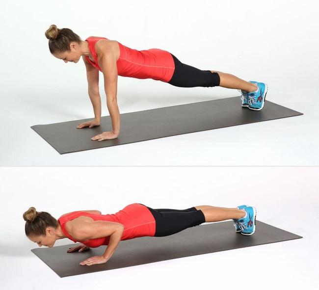 Tư thế Plank tăng cường sức mạnh cho tay, vai, lưng và mông, đồng thời làmBài tập yoga giảm mỡ bụng tại nhà với động tác Plank tăng cường sức mạnh cho tay, vai, lưng và mông, đồng thời làm săn cơ bụng săn cơ bụng