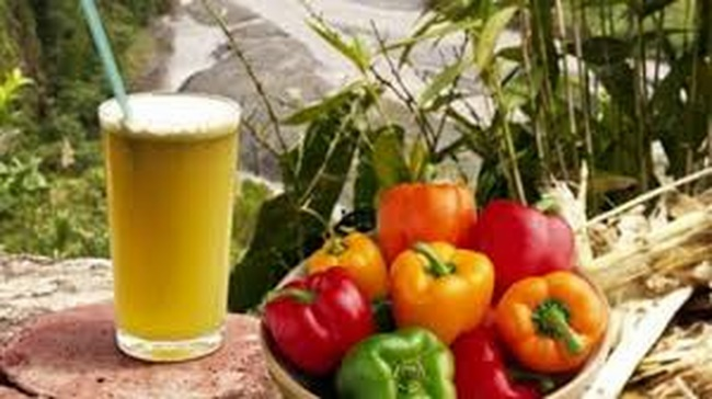 Uống detox nước mía với ớt Đà Lạt giảm cân