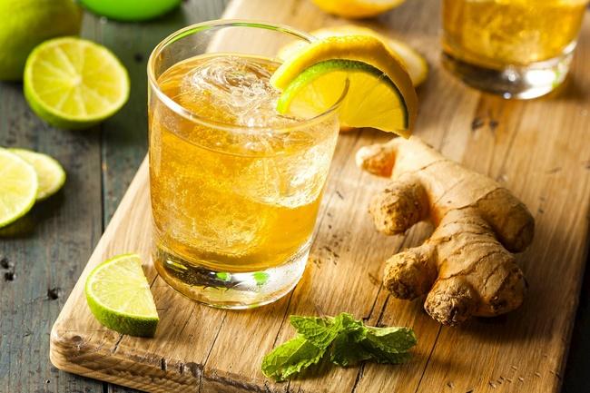 Uống nước gừng với chanh để giảm cân
