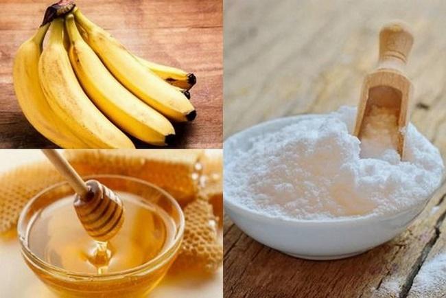Mặt nạ chuối mật ong và baking soda