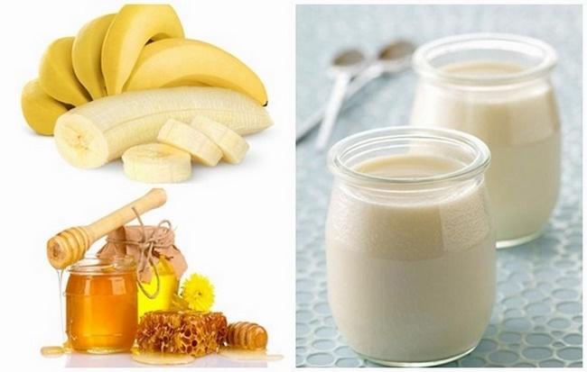 Mặt nạ chuối mật ong và sữa chua không đường