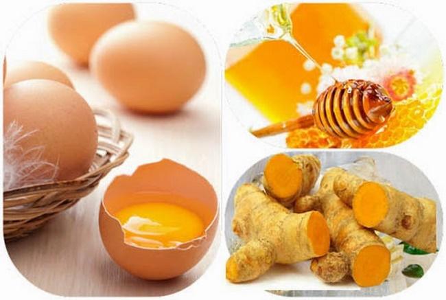"""Mặt nạ nghệ mật ong trứng gà – Thủ thuật làm đẹp da """"đáng gờm"""""""