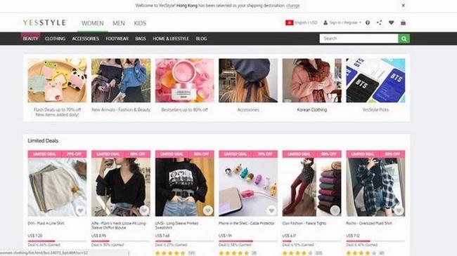 Website thời trang Hàn Quốc YesStyle
