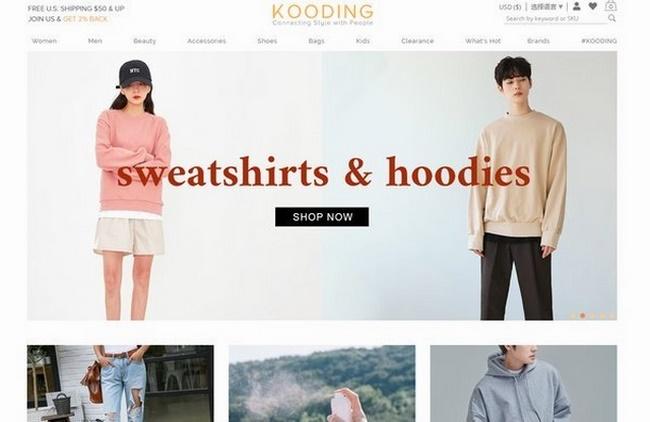 Website thời trang Kooding