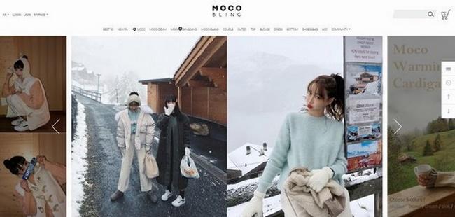 Web thời trang Hàn Quốc Moco Bling