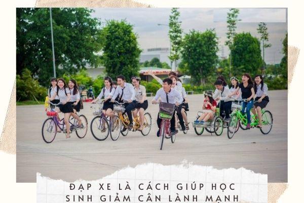 Đạp xe giảm mỡ toàn thân cho học sinh lớp 8 hiệu quả